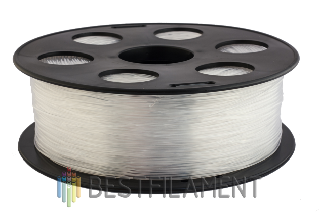 Natural Bestfilament PETG plastic for 3D printer 1 kg (1.75 mm) Natural Bestfilament PETG 1.75 mm for 3d printers.PETG is available in different colours. Discounts. Choose and order here!